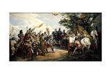 Battle of Bouvines, July 1214 Giclée-Druck von Horace Vernet