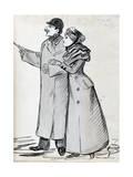The Couple, Man with the Bowler Hat, C1870-1893 Reproduction procédé giclée par Guy De Maupassant
