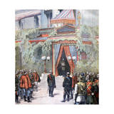 Announcement on the Health of Tsar Alexander of Russia, Livadia Palace, St Petersburg, Russia, 1894 Giclee Print by Henri Meyer