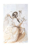Study of an Angel, C1611-1666 Lámina giclée por  Guercino