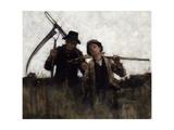 Farm Labourers, (1875-1929) Giclee Print by Henry Herbert La Thangue
