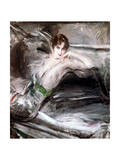 Woman Sat on Chair, C1860 Giclée-tryk af Giovanni Boldini