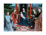 The Mystic Marriage of St Catherine, 1505-1510 Gicléetryck av Gerard David