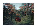 The Tropics, 1910 Gicléedruk van Henri Rousseau