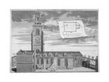 Church of St Martin-In-The-Fields, Westminster, London, C1720 Giclée-Druck von George Vertue