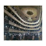 Auditorium in the Old Burgtheater, Vienna, 1888 Giclée-Druck von Gustav Klimt