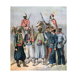 The French Colonial Forces, 1891 Giclée-tryk af Henri Meyer