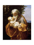 Saint Joseph with Infant Christ, 1620S Giclee-trykk av Guido Reni
