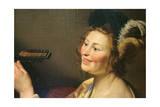 Lute Player, 1624 Lámina giclée por Gerrit van Honthorst
