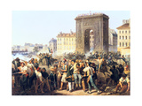 Battle at the Porte St Denis, 28th July, 1830, Paris Giclee Print by Hippolyte Lecomte