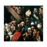 Carrying the Cross, C1480-1516 Giclée-tryk af Hieronymus Bosch