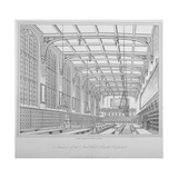 Interior View of the Hall, Christ's Hospital, City of London, 1833 Giclee Print by Henry Shaw