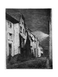Street at Saverne, 19th Century Gicléedruk van James Abbott McNeill Whistler