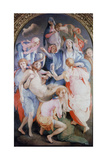 The Deposition from the Cross, 1526-1528 Giclée-tryk af Jacopo Pontormo