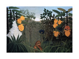 The Repast of the Lion, C1907 Giclée-tryk af Henri Rousseau