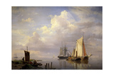 A Calm, 1852 Giclee Print by Hermanus Koekkoek