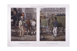The Driver of 1832 and the Driver of 1852 Giclee Print by J Harris
