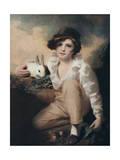 Boy with Rabbit, C1814 Giclée-tryk af Henry Raeburn