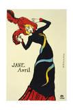 Jane Avril, 1899 Lámina giclée por Henri de Toulouse-Lautrec
