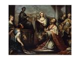 The Idolatry of King Solomon, C1739 Giclée-tryk af Jacopo Amigoni