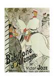 Poster to the Book Babylone D'Allemagne by Victor Joze, 1894 Lámina giclée por Henri de Toulouse-Lautrec