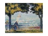 The Church of Santa Maria Degli Angeli Near Assisi, 1909 Giclee Print by Henri Edmond Cross