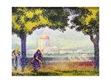 View of the Church of Santa Maria Degli Angeli Near Assisi, 1909 Giclee Print by Henri Edmond Cross