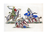 Knights Fighting, C1260 Giclee Print by Henry Shaw