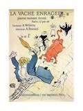 La Vache Enragée, 1896 Lámina giclée por Henri de Toulouse-Lautrec