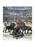 Lion Taming at the L'Hippodrome, Paris, 1891 Giclee Print by Henri Meyer