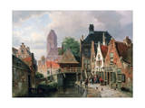View of Oudewater, C1867 Giclee Print by Hermanus Koekkoek