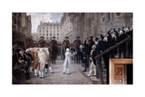 Louis XVI Received by the New Mayor of Paris, July 17 1789, (19Th/Early 20th Centur) Giclee Print by Jean-Paul Laurens