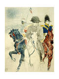The History of Napoleon I' (Rejected Design of a Poster to the Boo), 1895 Giclée-Druck von Henri de Toulouse-Lautrec