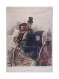 Hansom Cab Driver, London, 1854 Giclee Print by J Harris
