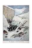 Avalanche at Mont Saint-Bernard, Switzerland, 1897 Giclee Print by Henri Meyer