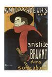Bruant in Ambassadeurs, 1892 Lámina giclée por Henri de Toulouse-Lautrec