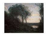 Evening, 1850-1860S Reproduction procédé giclée par Jean-Baptiste-Camille Corot