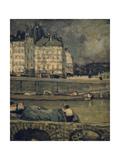 The Edges of the Seine, Paris, (1880-1924) Gicléetryck av James Wilson Morrice
