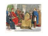 Harold Ii, Last Anglo-Saxon King of England, C1064 Reproduction procédé giclée par James William Edmund Doyle
