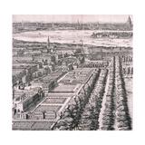 Panoramic View of London, 1720 Giclee Print by Johannes Kip