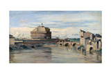 Castel Sant' Angelo and the River Tiber, Rome, C1816-1875 Giclee Print by Jean-Baptiste-Camille Corot