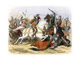 Battle of Bosworth Field, August 1485 Reproduction procédé giclée par James William Edmund Doyle
