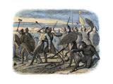Death of King Harold, Battle of Hastings, 1066 Reproduction procédé giclée par James William Edmund Doyle