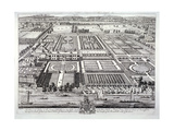 Aerial View of the Seat of the Dukes of Beaufort, Chelsea, London, C1720 Giclee Print by Johannes Kip