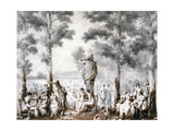 The Terrace of the Tuileries, 1807 Giclee Print by Jean Pierre Norblin
