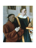 Etienne Chevalier and St Stephen, C1450 Giclee Print by Jean Fouquet