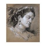 Portrait of a Woman, 18th Century Giclée-Druck von Jean Baptiste Van Loo