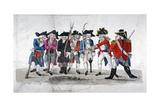 City Traind Bands, 1789 Giclée-tryk af John Nixon