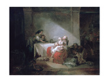 Interior Scene, Late 18th Century Reproduction procédé giclée par Jean-Honore Fragonard