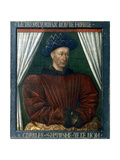 Charles VII of France, 15th Century Giclee Print by Jean Fouquet